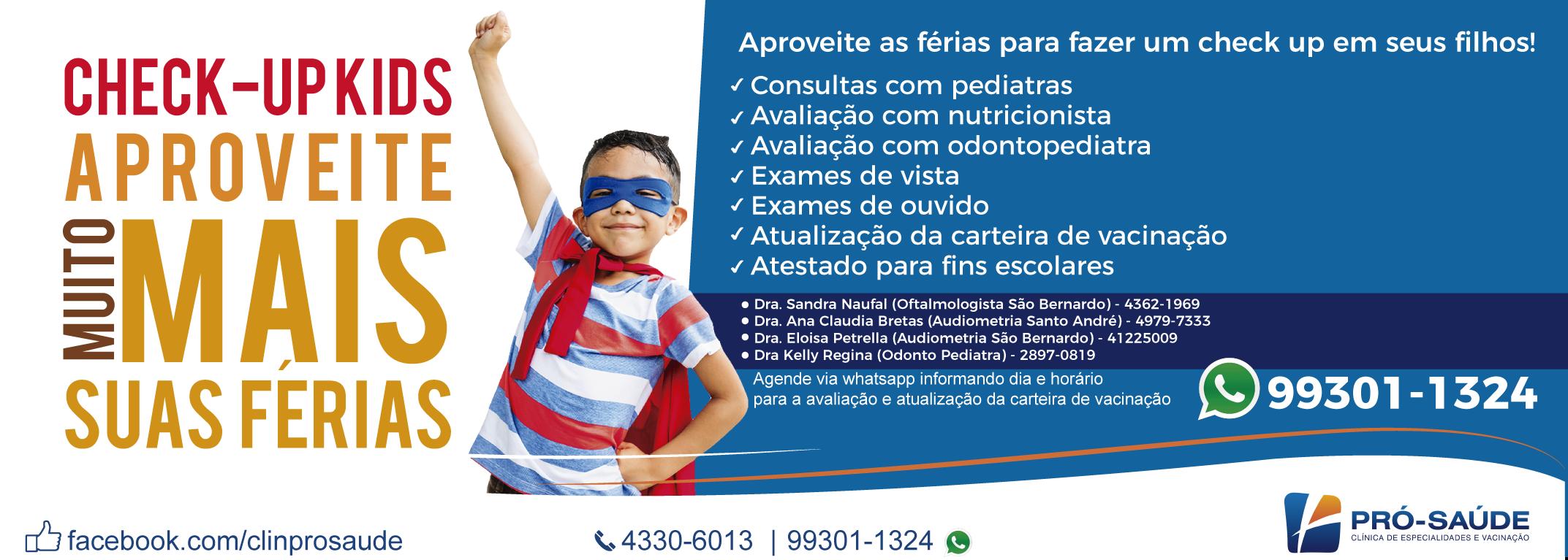 banner checkup cópia - Clínica Pró-Saúde - Especialidades Médicas e Vacinação