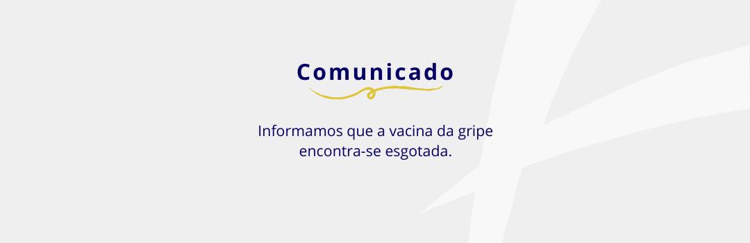 Comunicado - Clínica Pró-Saúde - Especialidades Médicas e Vacinação